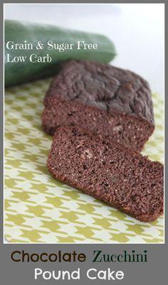 chocolate, zucchini, pound cake, paleo, candida diet friendly, sugar free, grain free