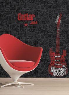 Wallpaper and murals for your rock star's bedroom or garage at http://lelandswallpaper.com