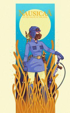 ArtStation - Nausicaä of the Valley of the Wind FANART, Mara Avalos Corpse Party, Nausicaa, Film D, Ghibli Movies, Hayao Miyazaki, I Love Anime, Character Design, Animation, Fan Art