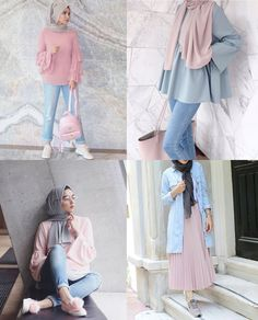 The lid is neutral. It looks pretty there. With that blue jeans again – Hijab + Modern Hijab Fashion, Street Hijab Fashion, Hijab Fashion Inspiration, Muslim Fashion, Look Fashion, Fashion Outfits, Fashion Styles, Fashion Ideas, Hijab Trends