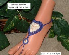 Playa sandalias pies descalzos zapatos por ABarefootSandalsShop