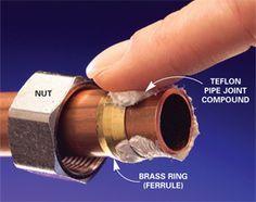 Stop leaks in plumbing joints  http://www.familyhandyman.com/DIY-Projects/Plumbing/Plumbing-Skills/stop-leaks-in-plumbing-joints#