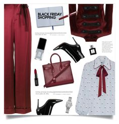 """""""Steal Those Deals: Black Friday"""" by marina-volaric ❤ liked on Polyvore featuring Marc Jacobs, Yves Saint Laurent, Pierre Balmain, Valentino, Gianvito Rossi, John Lewis, JINsoon, NYX and blackfriday"""