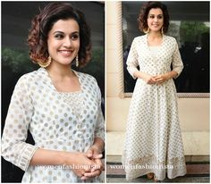 Taapsee Pannu in White Anarkali