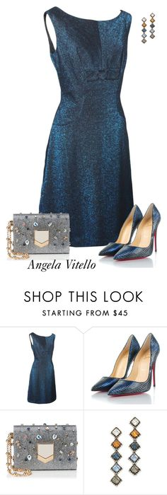 """""""Untitled #912"""" by angela-vitello on Polyvore featuring Christian Louboutin, Jimmy Choo and DANNIJO"""