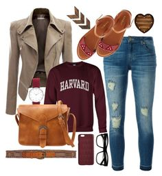 """""""Harvard in Flats"""" by sailorjerri on Polyvore featuring MICHAEL Michael Kors, Bamboo, ZeroUV, Nanni and Dagmar"""