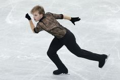 Sergei Voronov of Russia competes in the Men Free Skating during day two of the ISU Grand Prix of Figure Skating NHK Trophy at Sekisui Heim ...