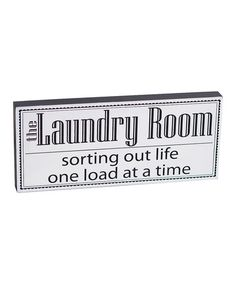 'The Laundry Room' Box Sign #zulily #zulilyfinds