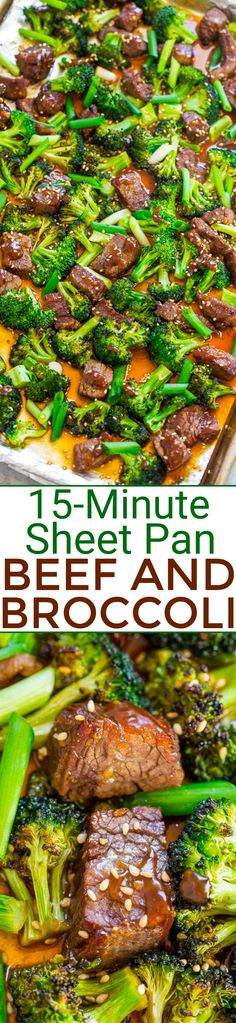 Sheet Pan Beef and Broccoli - Averie Cooks Sheet Pan Beef and Broccoli – EASY, HEALTHIER than going out for Chinese because it's baked, and FASTER than calling for takeout! So much FLAVOR in this family favorite! It'll go into your regular rotation! Asian Recipes, Beef Recipes, Cooking Recipes, Healthy Recipes, Chinese Recipes, Healthy Eats, Healthy Foods, Beef Dishes, Gourmet