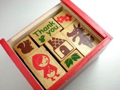 Cute Little Red Riding Hood Rubber Stamp Set by JFlairHomestyles, $19.95