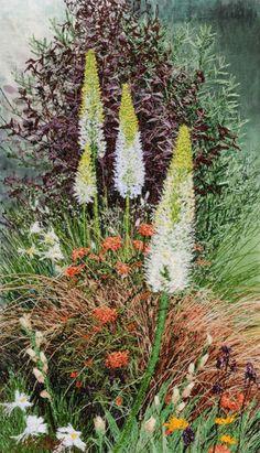 Foxtail Lilies by textile artist Alison Holt