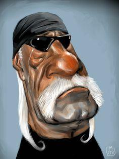 Bob Doucette caricatures | Hulk Hogan