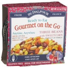 #10: St. Dalfour Gourmet On The Go, Ready to Eat  Three Beans with Sweet Corn, 6.2-Ounce Tins (Pack of 6)