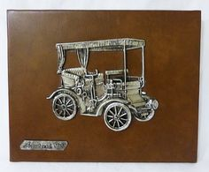 Vintage peugeot mod 1895 mounted pewter on leather wall decor plaque spain by MashliDesign on Etsy