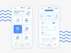 Smart home app by Chiyun Yeh. Graphisches Design, App Ui Design, Interface Design, Booth Design, User Interface, Android App Design, Android Ui, Ui Design Mobile, App Design Inspiration