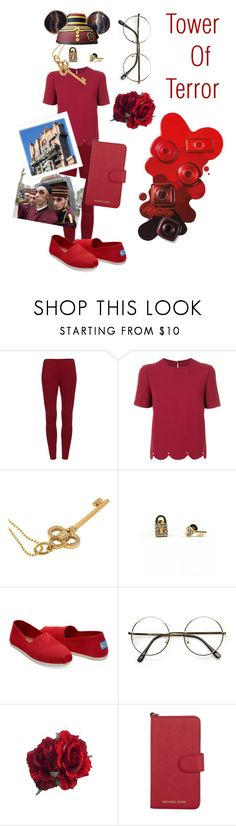 """Tower of Terror ~ Disney Day Outfit"" by yao-fashion ❤ liked on Polyvore featuring Valentino, Tiffany & Co., Disney, Armitage Avenue, TOMS and Michael Kors"