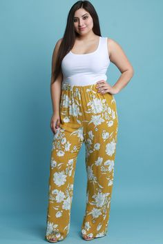 ba29bd6dbcbe Shop these pants features contrasting floral print on texture knit