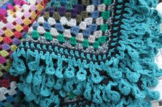 "Crochet giant granny square afghan. edging from ""Around the Corner Crochet Borders"" book"