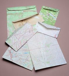 Our recycled stationery sampler pack contains twenty-five sheets of 8-1/2″ x 11″ stationery (may be used in both printers and copy machines) and 85 envelopes in assorted sizes. Each sampler consists of products from several different out-of-date maps and the colors, while varied, are compatible. No two sets are exactly alike. #recycledintogifts