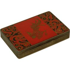 Enameled Phoenix German Sterling Silver Box c1900's from Antiques of River Oaks on Ruby Lane $1,250 - Questions Call: 713-961-3333
