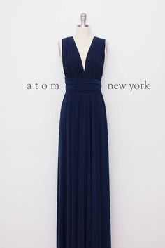 Navy Blue Floor Length Ball Gown Long Maxi Infinity von AtomAttire