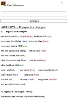 Deutsch als Fremdsprache DaF DaZ Grammatik - Adjetive. Comparatives and superlatives.