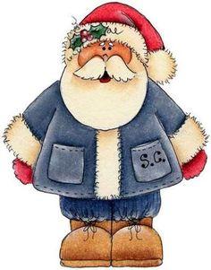 CHRISTMAS SANTA, CLIP ART