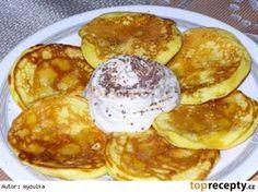Rychlé jogurtové lívanečky Griddle Cakes, Czech Recipes, Muesli, Nutella, Cooker, Pancakes, French Toast, Cheesecake, Food And Drink
