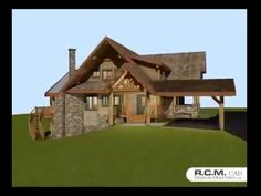 Here's a 3D Exterior walk around of our Waterdance Floor plan. Please click on the link below to see this stunning 2788 Sq. Ft. design. #loghomedesign #architect #floorplans