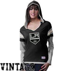 1972e31fd48 Old Time Hockey Los Angeles Kings Ladies Marte Long Sleeve Hooded T-Shirt