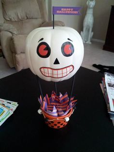 From Pinterest to Projects: Halloween Hot Air Balloons | From Married to Merry #FromP2P
