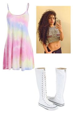 """""""Summer Vibes"""" by totallyrandompeople ❤ liked on Polyvore featuring Converse"""