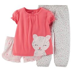 Just One You™ Made by Carter's® Toddler Girls' 3-Piece Pajama Set - Pink