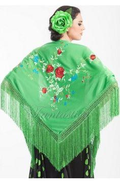 mantones flamenca, mantón sevillana, mantones manila, mantones lisos, mantones bordados, mantones baratos - Tienda Esfantastica