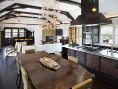 Contemporary Kitchen of Glass and Wood