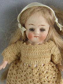 All bisque Kestner,6inches Marked P 610/n & Germany from ~ DOLLSANTIQUE ~ found @Doll Shops United http://www.dollshopsunited.com/stores/dollsantique/items/1298847/All-bisque-Kestner6inches-Marked-610-Germany #dollshopsunited