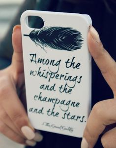 The Great Gatsby iPhone Case - Quote iPhone Case 4/ 4S / 5 - Literary iPhone Case - Word Art  - Typography iPhone Case via Etsy