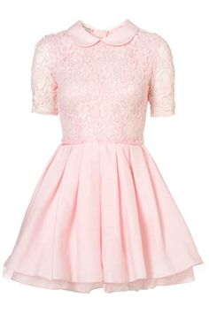 Poppy lace dress by Jones and Jones at Topshop, such a pretty pastel colour!  Love the collar too.