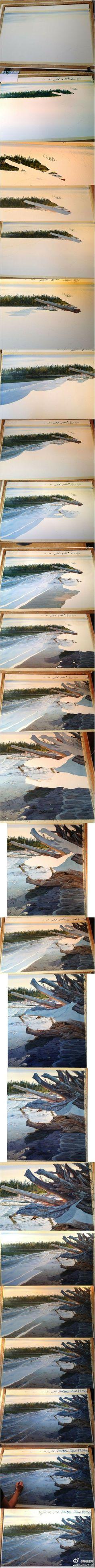 Carol Evans watercolor painting step by step.
