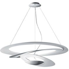 Artemide Pirce Mini Suspension Halo White (2.120 BRL) ❤ liked on Polyvore featuring home, lighting, ceiling lights, white, white lamps, white mini lights, mini pendant lamps, white pendant lamp and artemide lamp