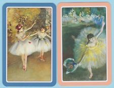 2 Single Swap//Playing Cards LADIES BALLET DANCERS BALLERINAS ON STAGE DEGAS Art