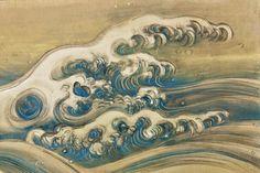 Detail. Sakai Hōitsu. Two-panel Japanese folding screen. 18-19 c. Miho Museum. Japan.