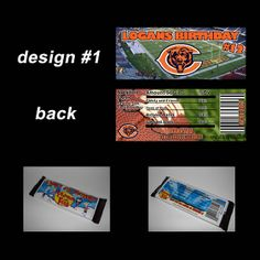 CHICAGO BEARS CANDY BAR WRAPPERS