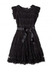 Lace Tie Waist Ribbon Dress by Red Valentino