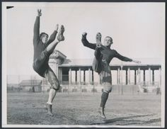 Arnie Herber and Clarke Hinkle of the Packers back in 1934