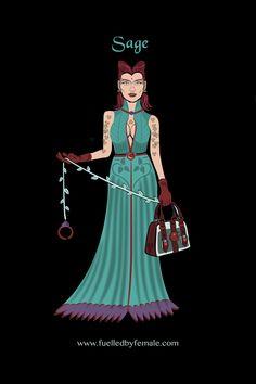 Sage (with nature themed bondage kit including apple shaped forbidden fruit ball gag) - Daniel Orlick fashion art #fuelledbyfemale