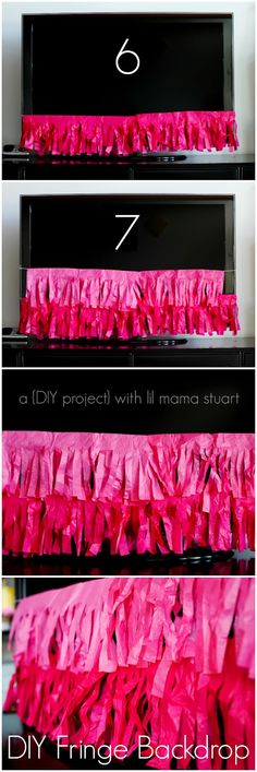 a {day} with lil mama stuart: How to Make a DIY Fringe Party Backdrop