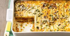 You won't even know the pasta is missing in this easy yet delicious pumpkin and zucchini lasagne.