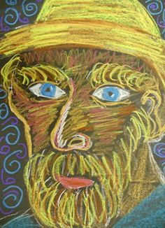 """From exhibit """"1st Grade Portraits of Vincent Van Gogh"""" by Judy20"""