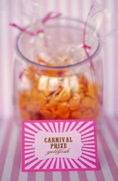 goldfish - carnival prize treat bags